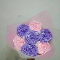 buket bunga satin handmade hadiah wisuda valentine anniv ultah