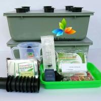 Paket Starterkit 2 Baki Hidroponik Paket Pemula Sistem Wick