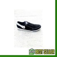 Sepatu Cowok / Sepatu Cewek / Sepatu Vans TB Hitam Silver