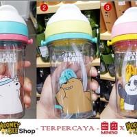Japan Quality Miniso - Botol Minum Anak We Bare Bears Kids Bottle