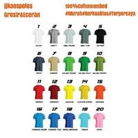Size L Warna- Kaos Polos cotton combed 20s