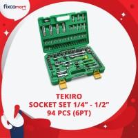 Tekiro Socket Set 1/4-1/2 Inch 94 Pcs 6PT / Tekiro Sock Set 94 Pcs