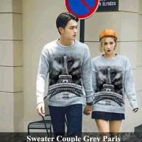 sweater pasangan | baju couple | kado pacar | sweater grey paris