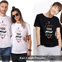 kaos couple | kaos pasangan | kaos katun | kaos everyday couple