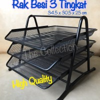 ATK0564TP File Document Tray 228241 BLK2001 Rak 3 Susun Besi Office
