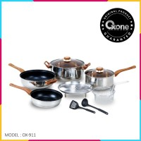 OX-911 Panci Oxone BASIC Cookware Set 4+2Pcs