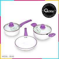 OX-83 PANCI Set Oxone Aluminium Cookware Set (3+2)Pcs