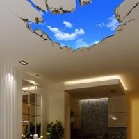 Stiker dinding Lantai Atap Langit IMPOR Wall Sticker 3D Waterproof