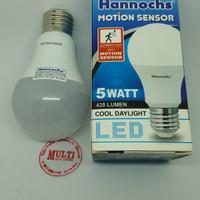 Lampu Led Sensor Gerak 5w Hannochs mejic cahaya