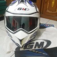 Helm fullface double visor GM Airborne