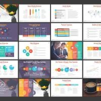 Slide Presentasi Powerpoint Template Premium / Tema PPT Presentation