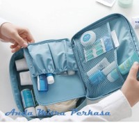 Travel Traveling Cosmetic Pouch Bag Tas Kosmetik Makeup Make Up BG07
