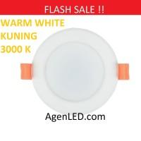 Lampu Downlight LED Panel Lamp 3W KUNING 3 w watt 3watt WARM WHITE