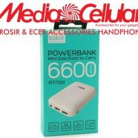 ViVAN Powerbank ROBOT RT7200 6600MAH 2 USB PORTS