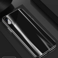 Cafele iPhone X - Mirror Gradual Laser Color Tempered Glass Case + TG