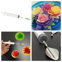 Tabung suntikan jelly art tools jelly art puding pudding paket dekor