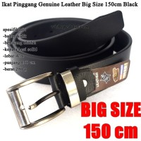 Sabuk / Ikat pinggang Pria Kulit Big Size 150cm black