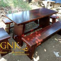 meja trembesi sate (buget,nakas,meja, kursi,rak,depan)