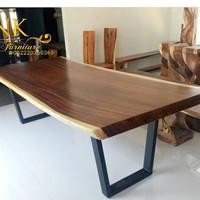 meja modern trembesi solid (bufet,rak,kursi,nakas,depan)