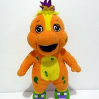 Boneka Riff Original Boneka Barney Tm Barney & Friends Rare Doll 2nd