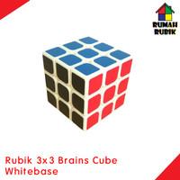 Jual Rubik 3x3 Yongjun Brains Cube Whitebase ( STICKER HITAM )