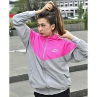 Jaket Nike Windrunner Parasut Despo Pink Abu - Jaket Sport Hoodie