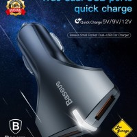 Baseus Car Charger Adapter Quick Charge QC 3.0 Dual USB Original