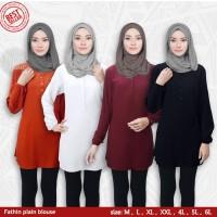 Blus muslim polos tunik baju atasan wanita / blouse jumbo / all size