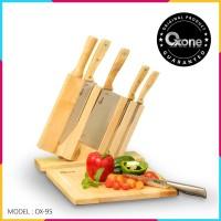 Pisau Dapur OX-95 7Pcs Wooden Knife Set Oxone