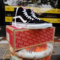 VANS SK8 HIGH BLACK WHITE PREMIUM DT BNIB TAG CHINA
