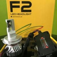 Lampu LED Mobil F2 Original Cree USA 12000lm H4 Double Beam
