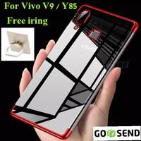 Case Vivo V9 soft casing back cover transparant ultra thin TPU PLATING