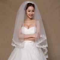 Bride Wedding Veil Slayer With Comb Kerudung Pengantin Sirkam Terlar