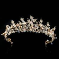 Mahkota rambut tiara wedding hiasan pesta pengantin CC22A Terlaris