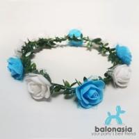 Balonasia Flower Crown Aksesoris Pesta Mahkota Bunga 2 warna Terlari