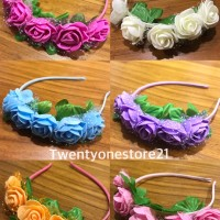 Bando bunga rainbow mahkota bunga flower crown Terlaris