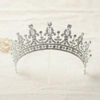Mahkota hiasan rambut aksesoris tiara wedding pesta pengantin CC09 T