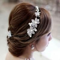 Hiasan Rambut Pesta Aksesoris Rambut Bunga Kristal Premium Quality T