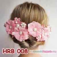 Headpiece Wedding l Aksesoris Rambut Pengantin Modern Pink HRB 008 T