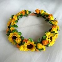 FLower Crown Mahkota bunga SUNFLOWER Full mix Aksesoris rambut Terla