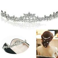 aksesoris rambut kerudung wanita mahkota hairband pesta pernikahan T