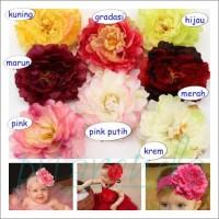 FLR 35 Bunga Peony Besar untuk Bandana atau Tutu Dress per buah Terl