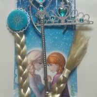 Aksesoris Rambut Frozen Elsa Rambut Bando Mahkota Tongkat Baru Terla