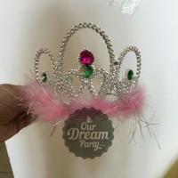 Mahkota Tiara Crown Bulu Dewasa Anak Terlaris