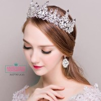 Mahkota Pesta Pengantin Wanita l Aksesoris Rambut Wedding MPW 006 Te