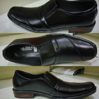Sepatu Fantofel Pantofel Hitam Fullblack Formal Resmi Pria Dewasa