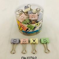Binder Clip No. 107FC2 Smiley Color Joyko Perdrum