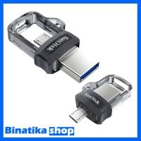 Original USB Flashdisk Sandisk OTG 32GB Dual USB Drive 3.0