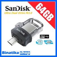 Original USB Flashdisk Sandisk OTG 64GB Dual USB Drive m3.0