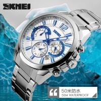 Jam Tangan Pria Skmei ORIGINAL 9108 silver Jam Tangan Skmei 9108
